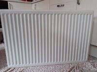 2 White Radiator's with brackets and valves