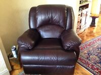 3 Seater reclining sofa leather and 2 X reclining single