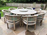 Teak 8 seater outdoor furniture set