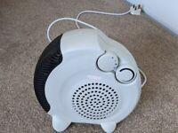 Small electric fan heater