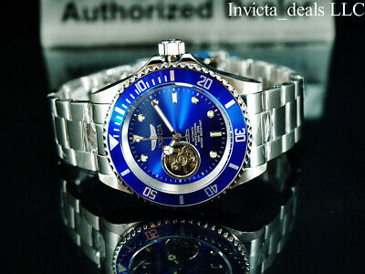 Invicta Men's 40mm Pro Diver AUTOMATIC NH38A OPEN HEART Blue Dial Silver Watch