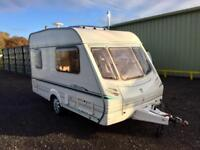 Abbey vogue 2003 2 berth caravan lightweight with motor mover full awning and winter cover