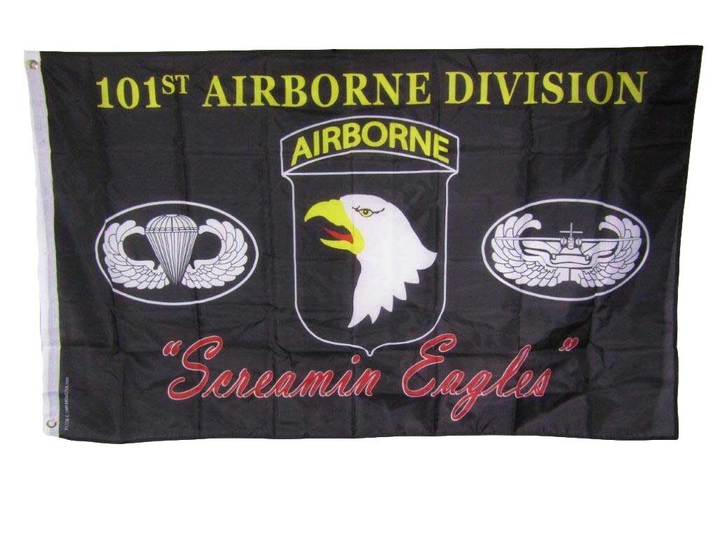 3x5 U.S. Army 101st Airborne Division Screamin Eagles Black