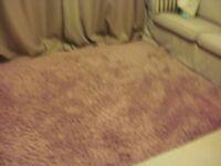 large pink (dusky rose) shaggy rug