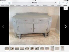 Paris grey annie sloan sideboard with wine shelves