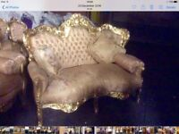 Reduced 2 x 2 seater French rococo style sofas
