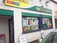 800sq/ft Shop To Let With Vacant Possession or As Ongoing Concern Currently Trading As Newsagents
