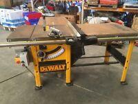 "Dewalt Heavy Duty Bench 10"" Saw 3 Phase 400V Model DW746T-XJ In Very Good Condition"