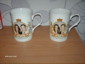 PRINCE WILLIAM AND KATE MIDDLETON COMMEMORATION MUGS