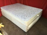 DOUBLE DIVAN BED WITH UNDER STORAGE AND MATTRESS,CAN DELIVER