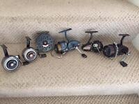 6 Antique fishing reels