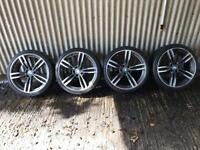 "20"" BMW 3 Series M Sport replica Staggered Alloy Wheels - 5x120 - 316, 318, 320 F30"