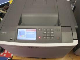 lexmark Laserjet cs510de no test page printed as no black toner hence £60