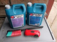 Autosmart smart wheel cleaner and wax detailing spray , ulitmate wax and clay bar with brushes