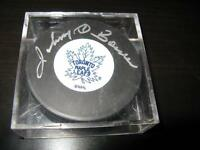 Johnny Bower Autographed Toronto Maple Leafs puck!
