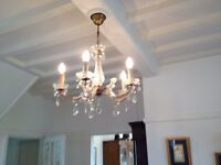 Vintage, Marie Therese French Glass Chandelier