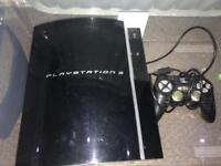 Play Station 3 with controller and 3 games