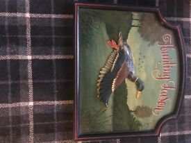 3D Carved/Painted Old wooden Pictures - Hunting Season Inspired