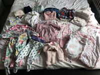 Baby girl clothes 3-6 months.