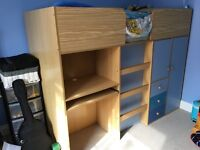 High Sleeper Bed with Storage and matching Draws