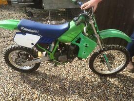Kawasaki kx80 dirt bike