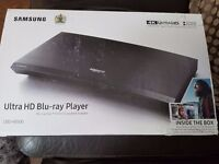 DVD Player, Brand New, unopened Samsung Ultra HD Blue Ray player UBD-K8500