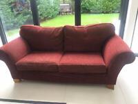 Multiyork Burgundy Sofa Set 2x