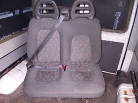 FIAT DUCATO PEUGEOT BOXER CITROEN RELAY DOUBLE PASSENGER SEAT 2002-2006