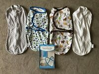 £2. Set of FOUR baby swaddles. 0-3 months.