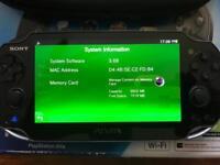 PS Vita + 3 games all leads 4GB card