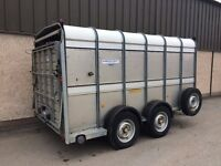 USED IFOR WILLIAMS TA510 12FT LIVESTOCK TRAILER 2007