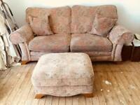 Sofa & foot stool