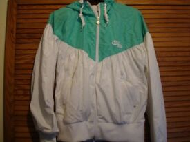 White and Green Nike Air Jacket