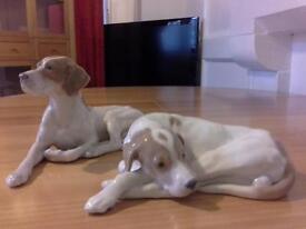 PAIR OF ROYAL COPENHAGEN HUNTING DOGS