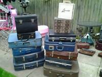Vintage suitcases ideal display item or upcycling projects