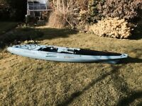 excellent condition 12 ft kayak ideal for fishing with seat and storage features