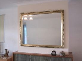 OVERMANTLE GILT FRAMED MIRROR