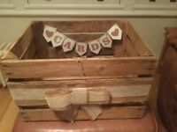 Vintage Wooden Wedding / Party Gift Card Box (Wishing Well)