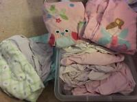 Cot bed bedding (girl)