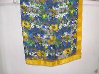 Christian Dior 100% silk scarf (yellow, flower), Brand-New!
