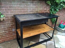 BBQ. Large Steel fabricated construction, for wood/charcoal