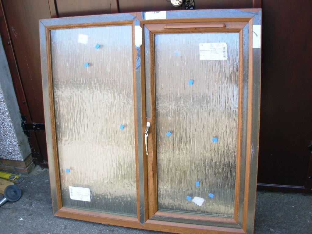Pvc Double Glazed Window With Cotswold Glass Oak Upvc In