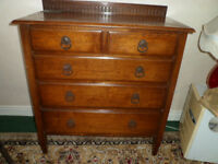 Edwardian chest of drawers needs ome retoration to the top ideal habby chic project
