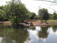 POND WORK / LAKE WORK / DREDGING WORK / DITCHING WORK, DIGGER & DUMPER HIRE WITH/WITHOUT OPERATER
