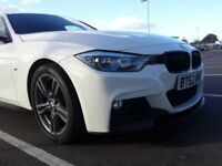 62 Plate BMW 3 Series F30 318d M Sport with M Performance Kit - Glacier White with Red Interior