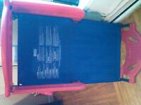 Red and Blue toddler bed with Matress