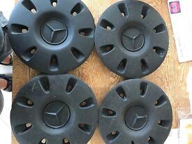 Mercedes vito black centre wheel hub caps