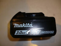 MAKITA BATTERY, 18 VOLT, LITHIUM ION, 3.0AH, BRAND NEW, NEVER USED