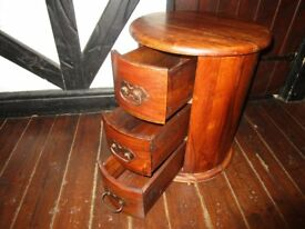 wooden round TABLE / drawer furniture, nice condition,