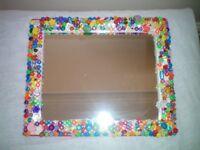 Colourful Beaded Mirror